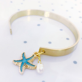 florida keys cuff bracelet with charm