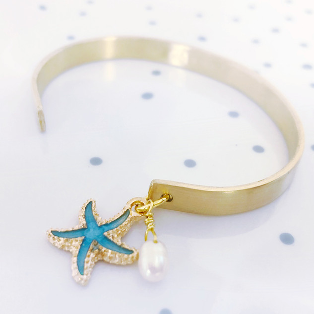 florida keys cuff bracelet with charm