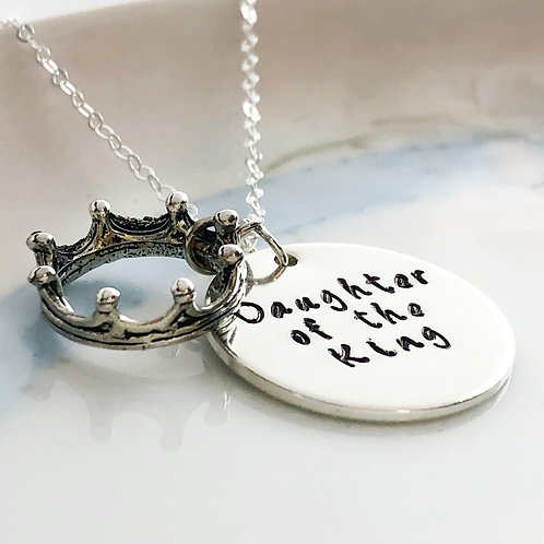 Daughter of the King, Sterling Silver, Necklace