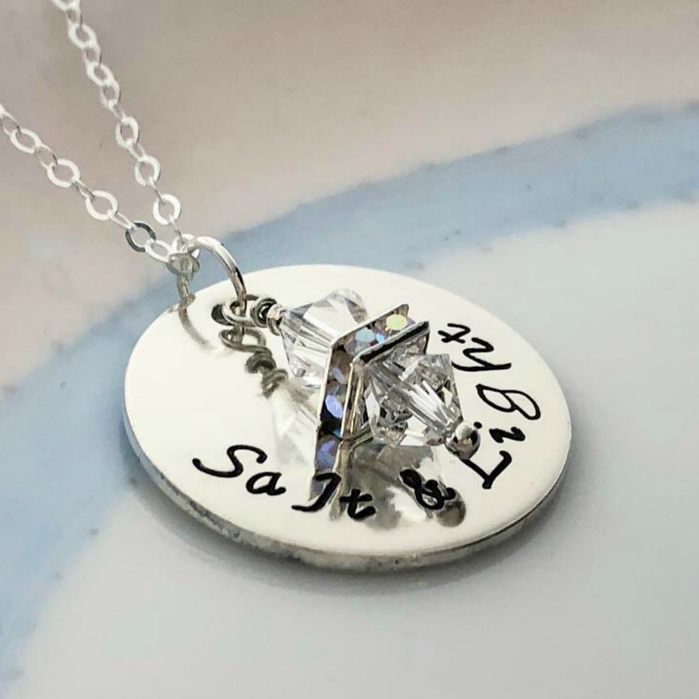 Sterling silver pendant with swarovski crystals