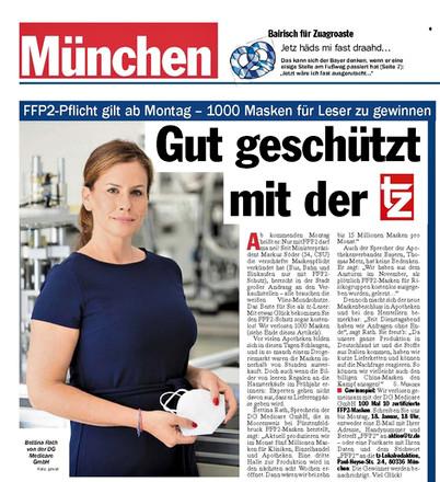 Titelseite + Seite 3 TZ-Tageszeitung