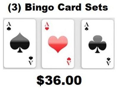 (3) Sets of 3-Card Bingo Cards