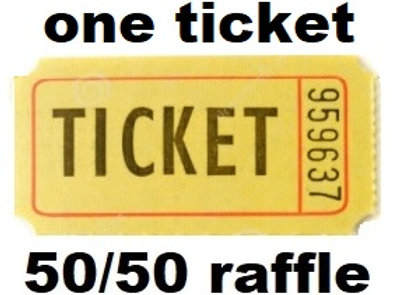 Single 50/50 Raffle Ticket