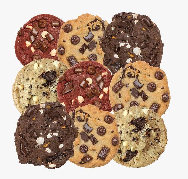 Antojado de galletas frescas recien horneadas y bien chewy! Píde esta caja 12 x 9 a domiclio por Domicilios Helados Popsy desde tu heladería  o tienda The Cookie Jaar más cercana.