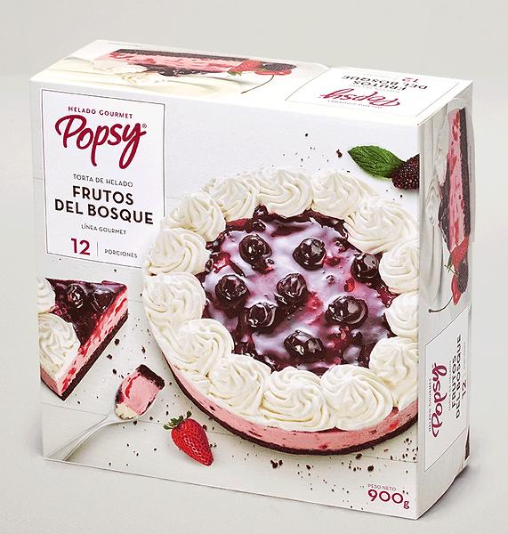 Una solución perfecta para el postre en tu casa. Pide una Torta de Frutos del Bosque a domiclio por Domicilios Helados Popsy desde tu heladería más cercana.