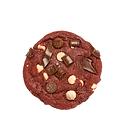 Nada mejor que pedir una Red Velvet Cookie Jaar a domicilio. Descaradamente adictiva por su frescura, recien horneada en el punto perfecto entre suavidad y crocancia!