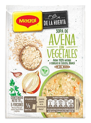 MAGGI Sopa Avena Vegetales 70 g