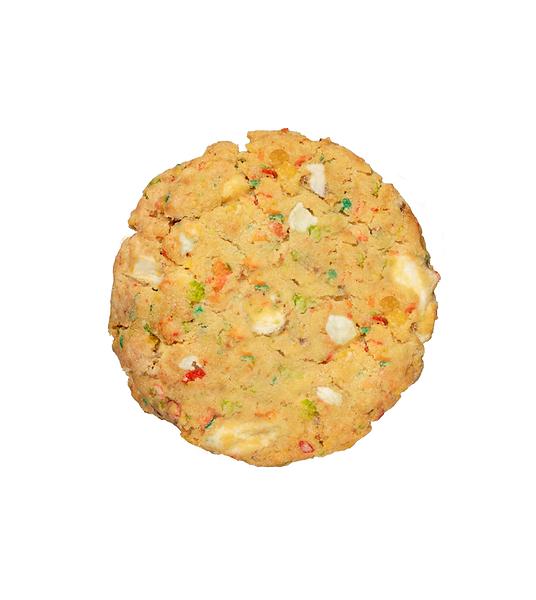 Nada mejor que pedir una divertida galleta Cereal Cookie Jaar a domicilio. Descaradamente adictiva por su frescura, recien horneada en el punto perfecto entre suavidad y crocancia!