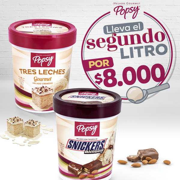 Simpre es buena idea tener suficiente helado en tu congelado. Píde esta atractiva oferta a domiclio por Domicilios Helados Popsy desde tu heladería más cercana.