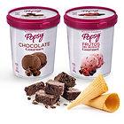 Brownie caliente con helado o conos de helado, una solución perfecta para el postre de tu comida en casa. Pide este combo a domiclio por Domicilios Helados Popsy desde tu heladería más cercana.