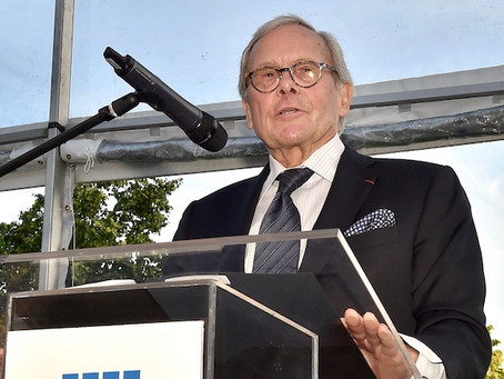 Brokaw Honored at Four Freedoms Garden Party
