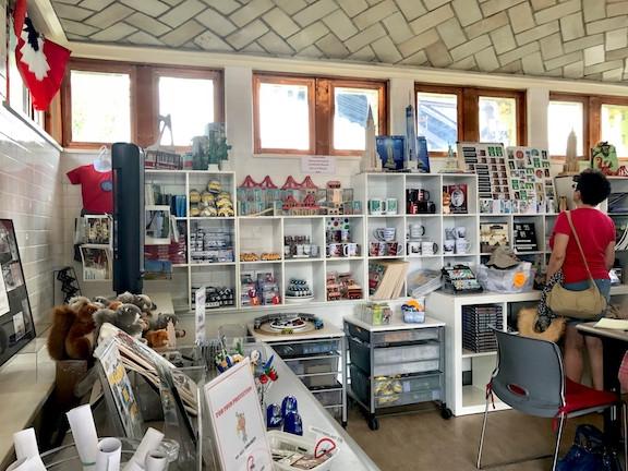Inside the Visitor Center Kiosk