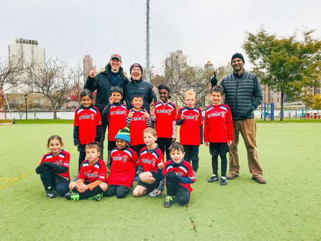 Youth Soccer Champions Celebrate Wins