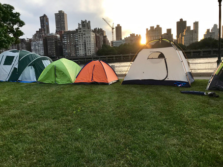 Girl Scouts Spend a Night Under the Stars