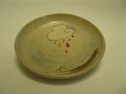 Assiette décorée (Elisabeth)