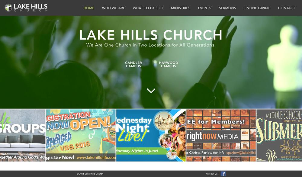 Lake Hills Church Website