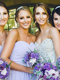 brides maids mother of the bride hair and makeup