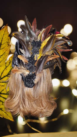Feathered Hat, Back View