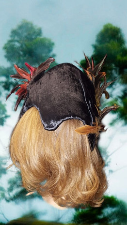 Feathered Hat, Back Left View
