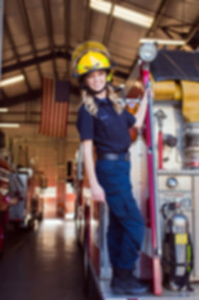 Ione Californa fire station female firefigter senior session