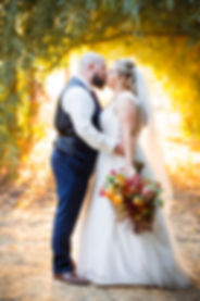 bride and groom kiss in davis california