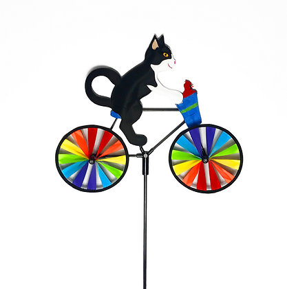 Kitty & Friend Bicycle Wind Spinner