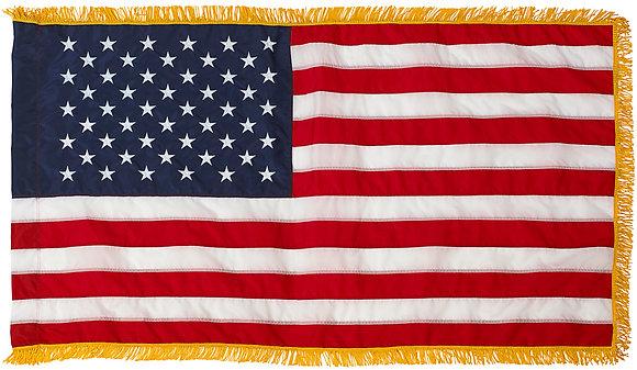 United States TITAN™ Nylon Flag with Hem & Fringe