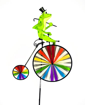 Froggy Unicycle Wind Spinner