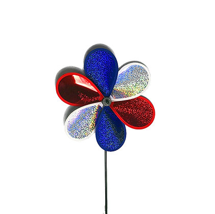 Small Reflective Patriotic Spinner
