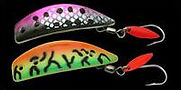Includes the EChip electronic attractor deadly for trout.  Available in two sizes, and an array of colors, including holographic and chrome.