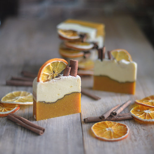 """""""Корица и апельсин"""" натуральное мыло с нуля"""