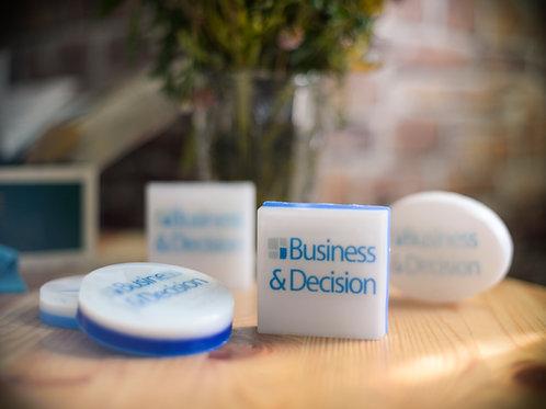 Мыло-визитка с вашим логотипом