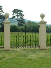 Wrought iron gates produced by our blacksmith