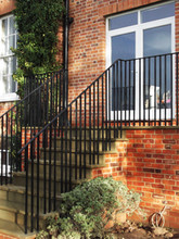 Simple mild steel external balustrade E