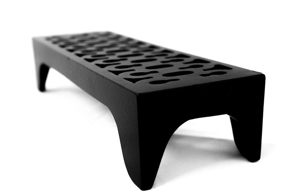 Cast iron air brick in black