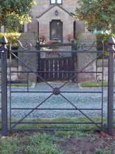 Ornate Finish on X Gate