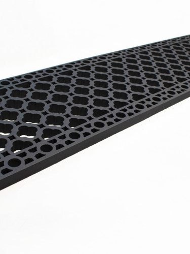 Cast iron floor grille pattern