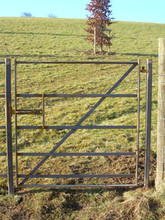Bare Metal Pedestrian Gate