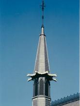 Ridge cresting and church spire cast iron restoration project.
