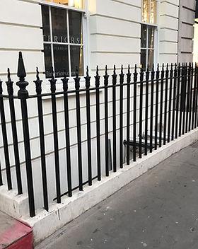Painted railings Albemarle Street