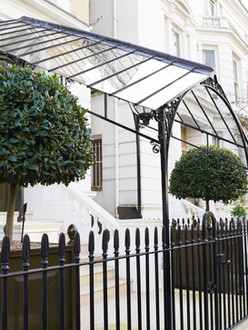 Cast iron and mild steel canopy - central London.