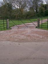 Field Gate Driveway Entrance
