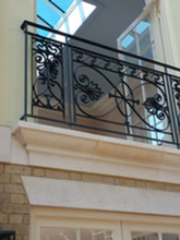 Cast iron Juliet balcony.