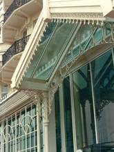 Close up of Grand Hotel Brighton cast iron restoration.