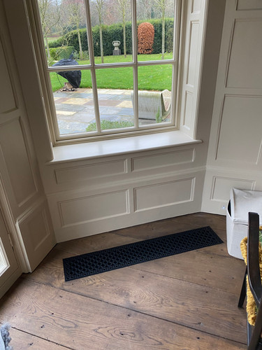 Bespoke cast iron floor grille