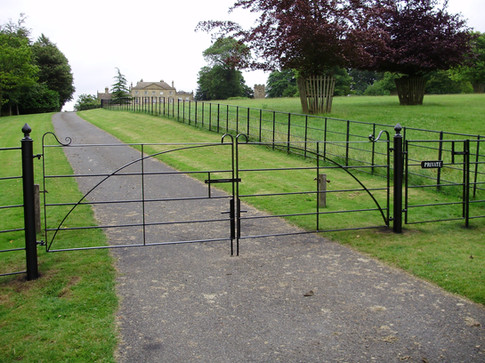 Fabricated Steel Double Gate