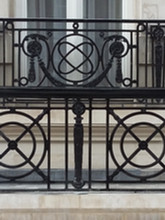 Solid cast iron Juliet balconies for heritage building in central Mayfair.
