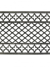 One of our cast iron grille patterns