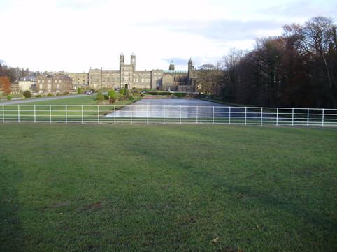 britannia estate fencing in the foreground