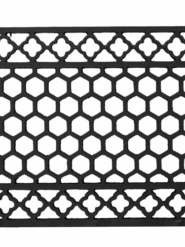 Cast iron floor grille